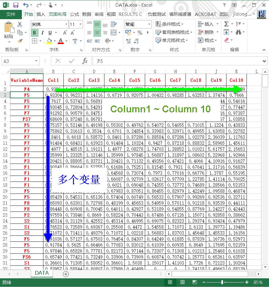Excel Data